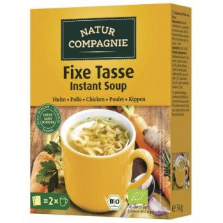 Fixe Tasse Hühner-Suppe